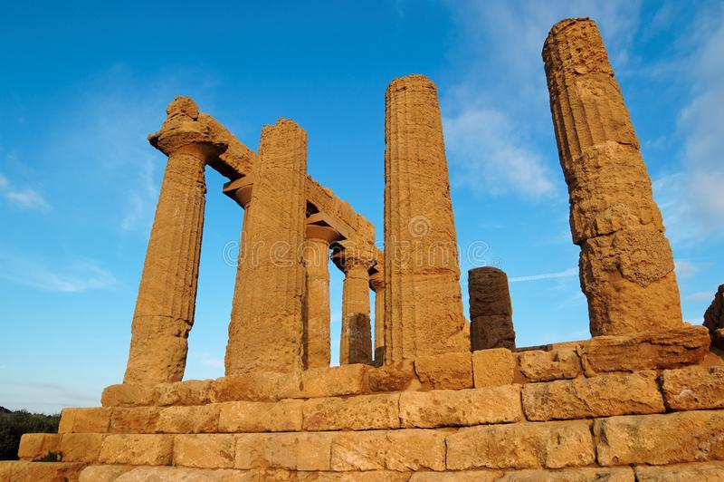 Download Colonnade Of Hera (Juno)  Temple In Agrigento, Sic Stock Photo - Image of famous, greece: 24734894