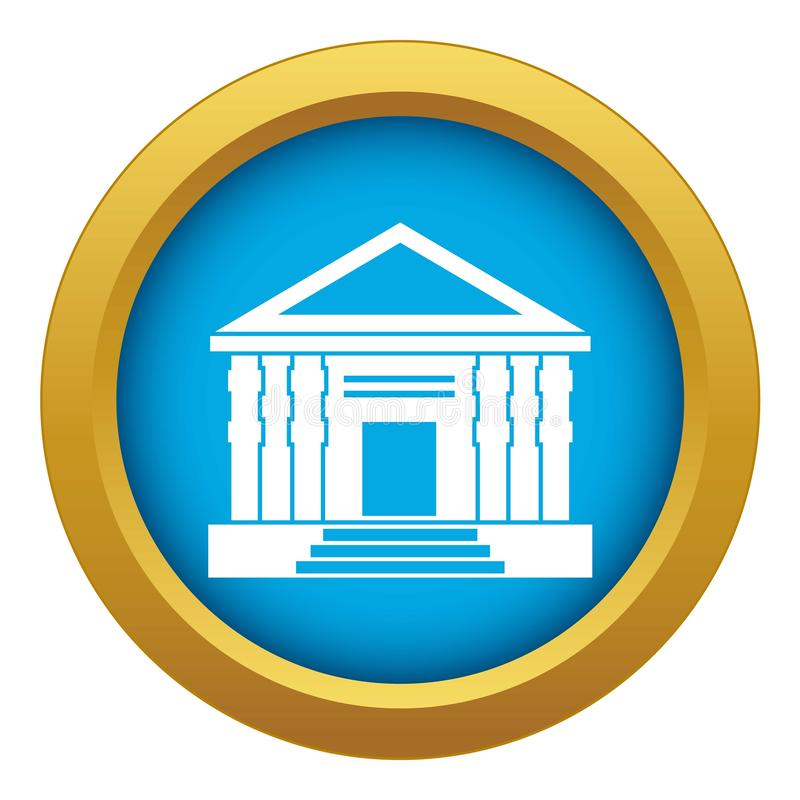 Colonnade icon blue vector isolated. On white background for any design royalty free illustration