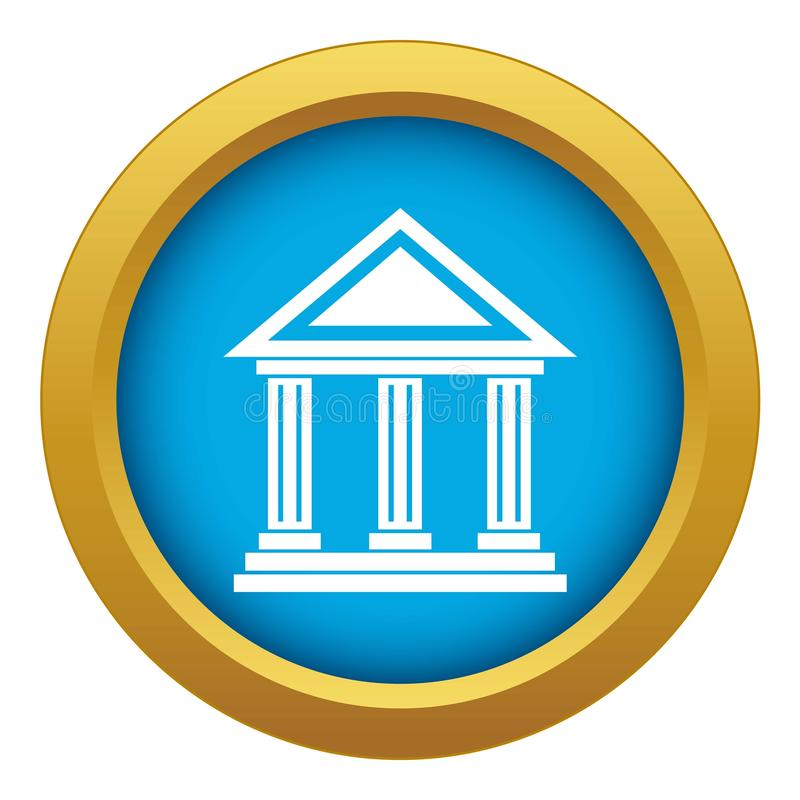 Colonnade icon blue vector isolated. On white background for any design stock illustration