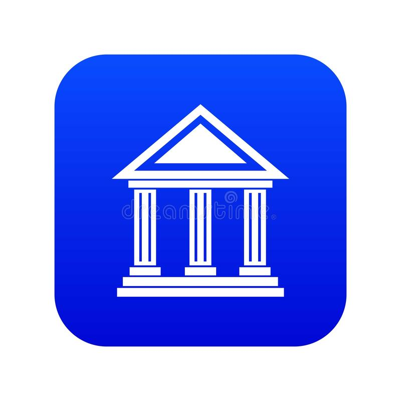 Colonnade icon digital blue. For any design isolated on white vector illustration royalty free illustration