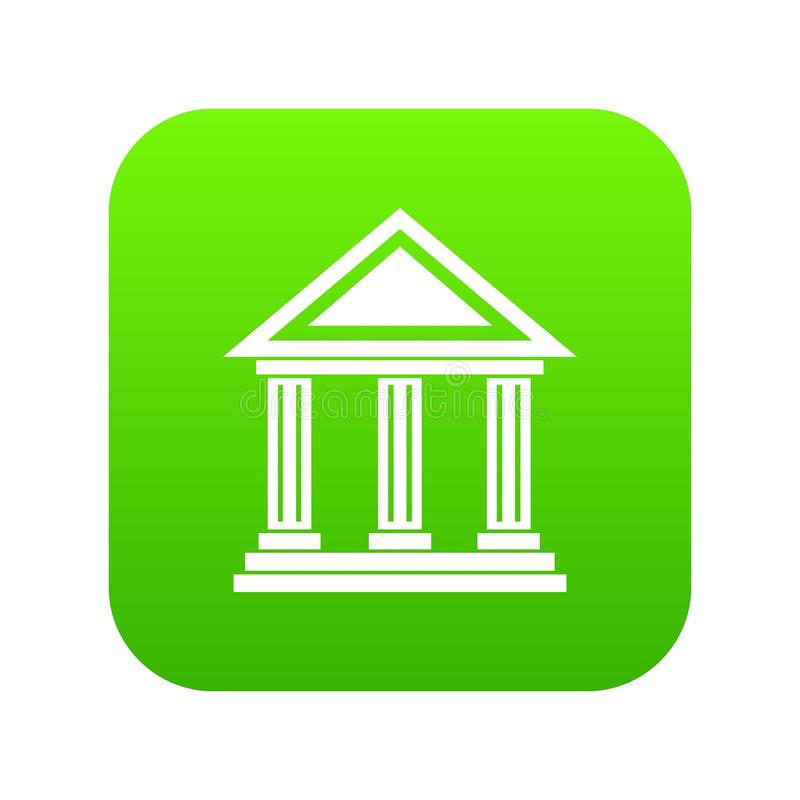 Colonnade icon digital green. For any design isolated on white vector illustration vector illustration