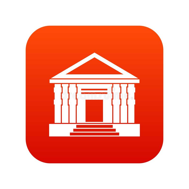 Colonnade icon digital red. For any design isolated on white vector illustration vector illustration