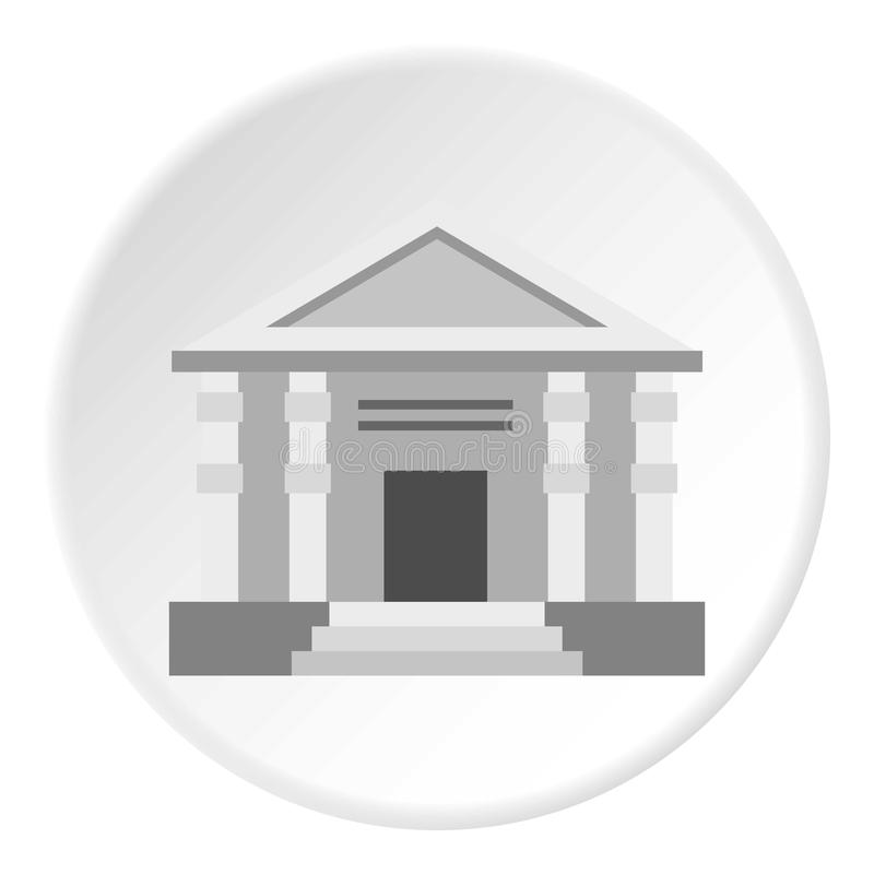 Colonnade icon circle. Colonnade icon in flat circle isolated vector illustration for web royalty free illustration