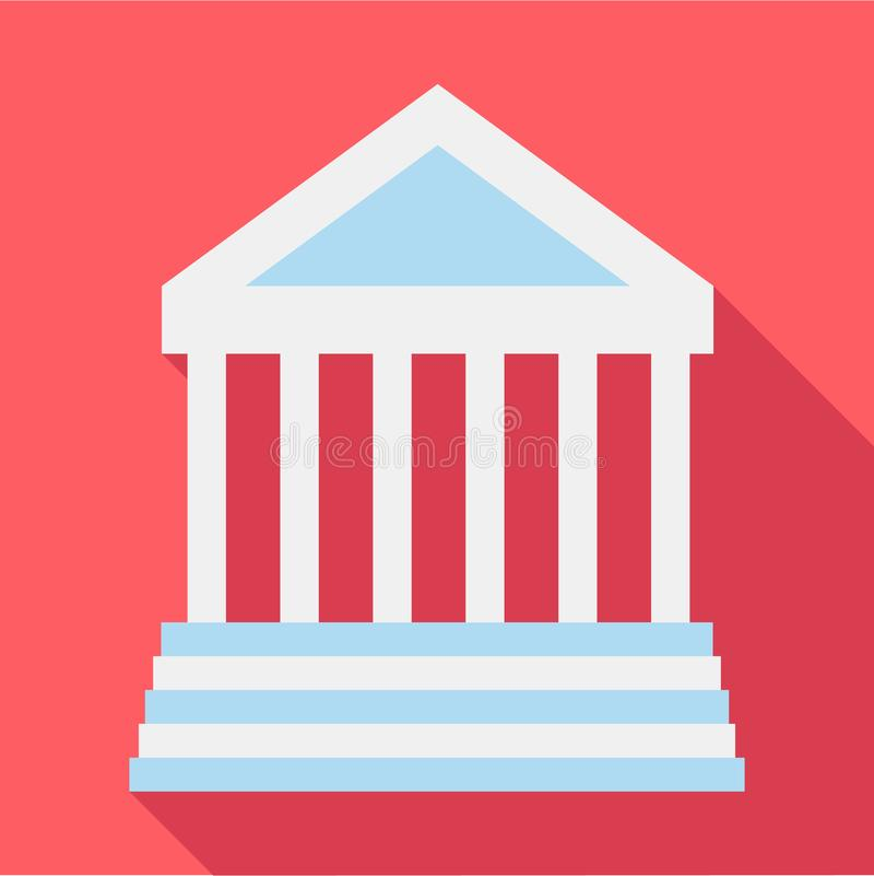Colonnade icon, flat style. Colonnade icon. Flat illustration of colonnade icon for web vector illustration