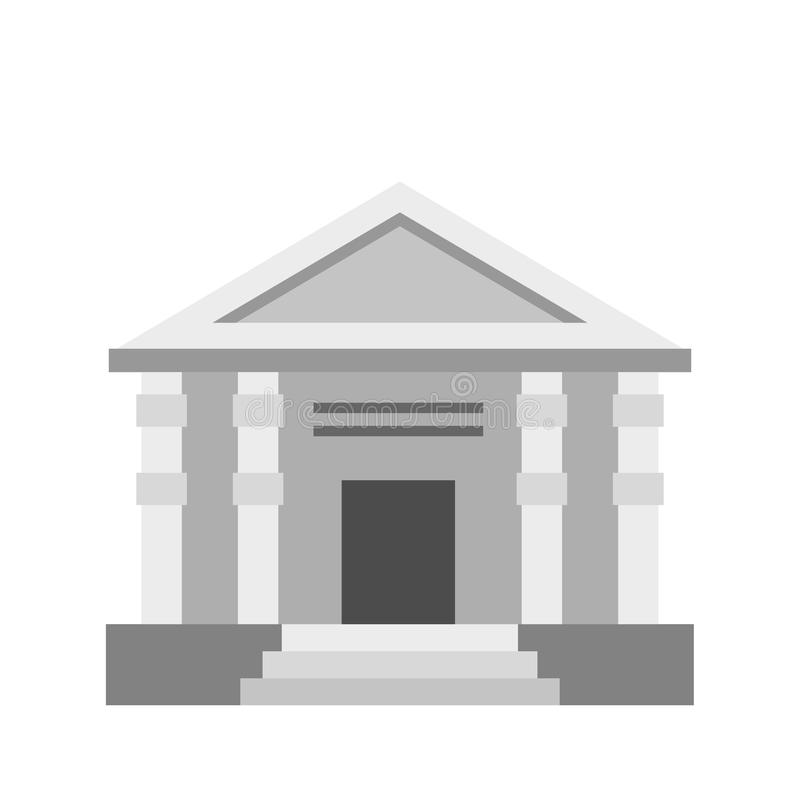 Colonnade icon, flat style. Colonnade icon in flat style isolated on white background vector illustration royalty free illustration