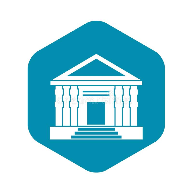 Colonnade icon, simple style. Colonnade icon. Simple illustration of colonnade vector icon for web stock illustration
