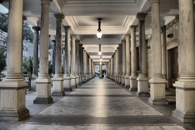 Colonnade in Karlovy Vary. Czech Republic royalty free stock photography