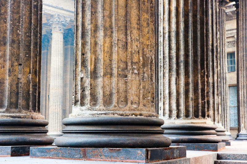 Colonnade known Kazan Cathedral in Petersburg. Colonnade known Kazan Cathedral in St. Petersburg royalty free stock image