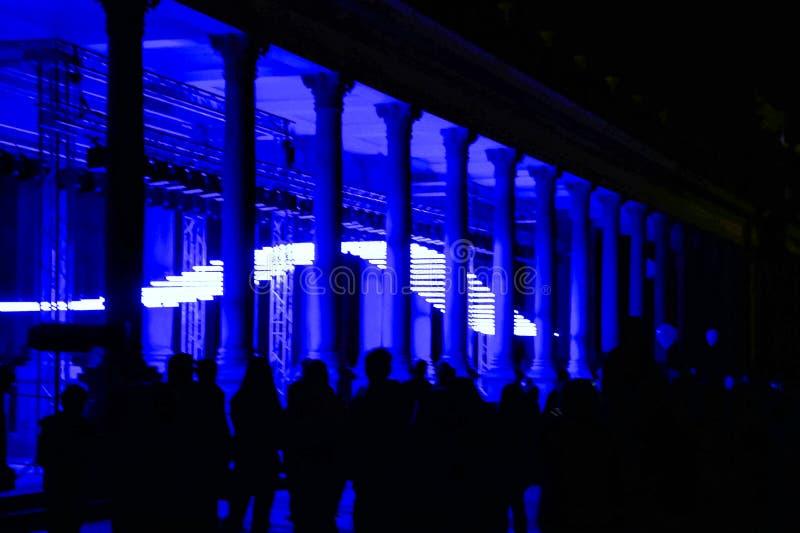 Colonnade light show fotografia stock