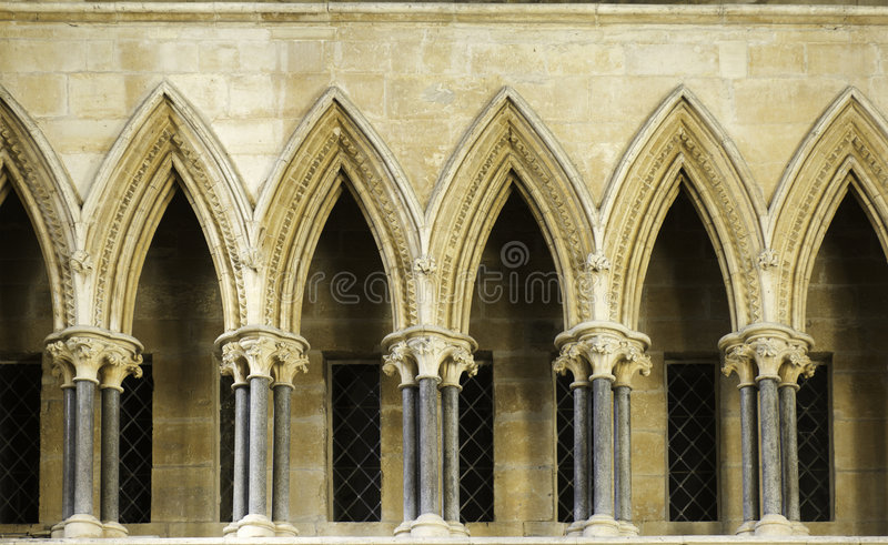 Download Colonnade Lincoln Cathedral Stock Photo - Image: 4631638