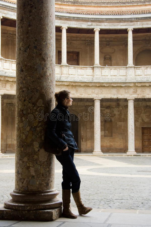 Download Colonnade  Of The Palace Of Carlos V Editorial Photography - Image: 23605542