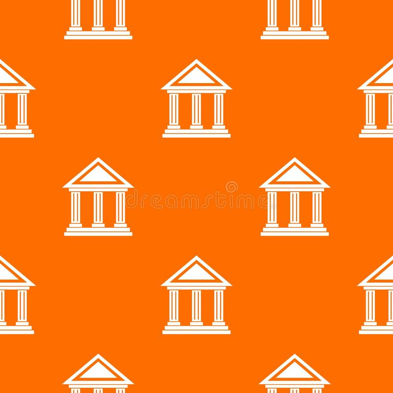 Colonnade pattern seamless. Colonnade pattern repeat seamless in orange color for any design. Vector geometric illustration vector illustration