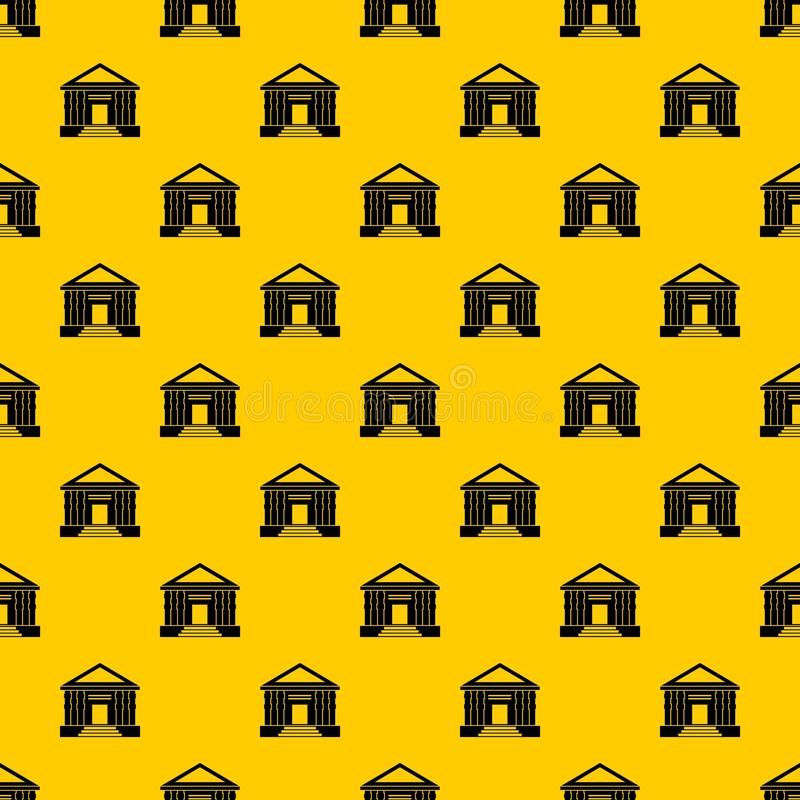 Colonnade pattern vector. Colonnade pattern seamless vector repeat geometric yellow for any design royalty free illustration
