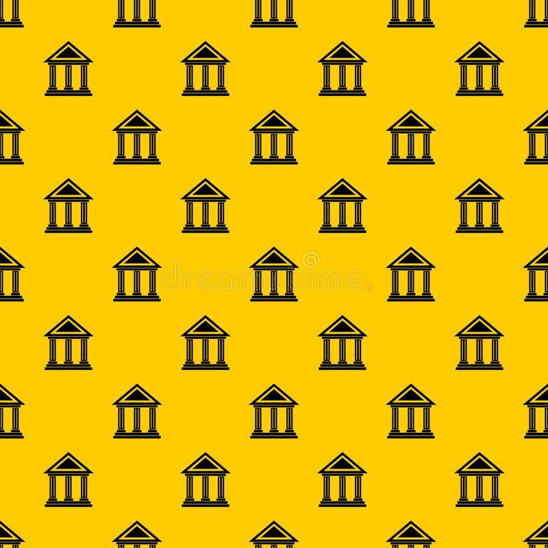 Colonnade pattern vector. Colonnade pattern seamless vector repeat geometric yellow for any design stock illustration