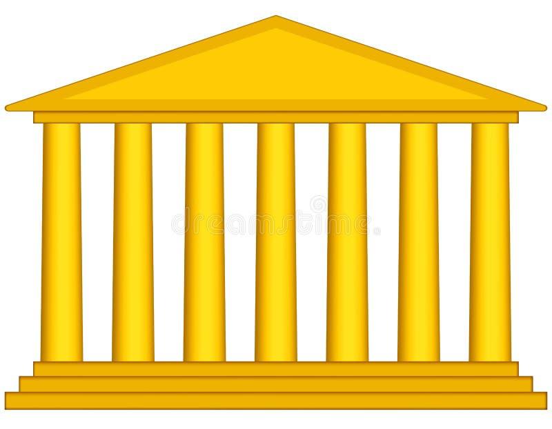Colonnade. Portal icon for various design vector illustration