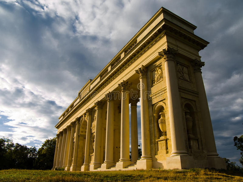 Colonnade Reistna, Valtice, Unesco stock foto