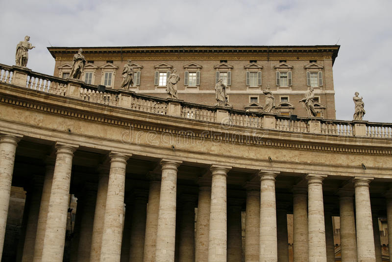The Colonnade of St. Peter's Basilica in Vatican stock photos