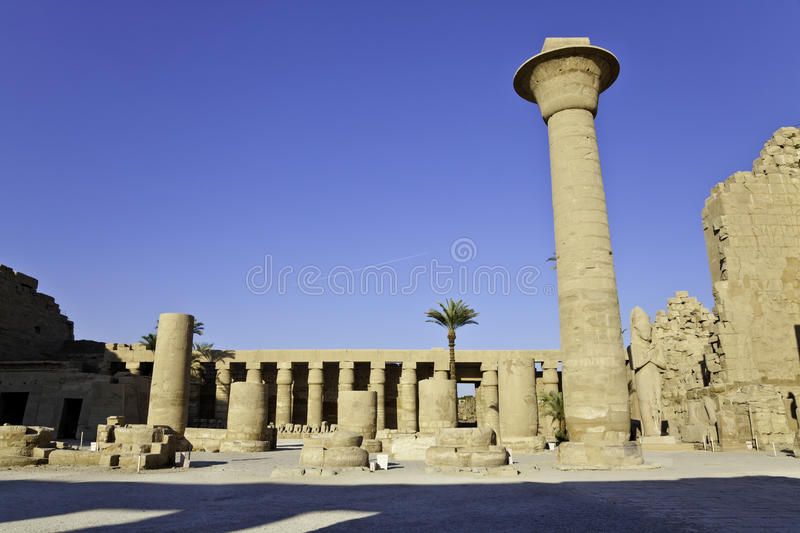 Download Colonnade of tahargo stock image. Image of egyptian, luxor - 27924245