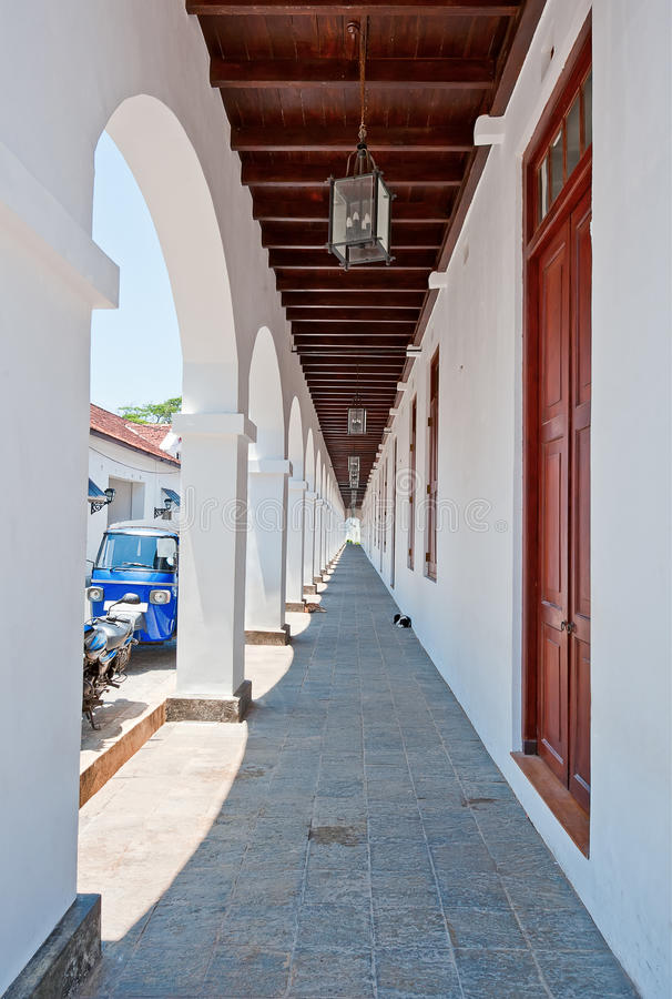 Download The Colonnaded Archway In Galle, Sri Lanka Stock Image - Image of shadow, open: 39506287