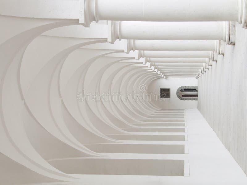 Colonnato bianca fotografia stock