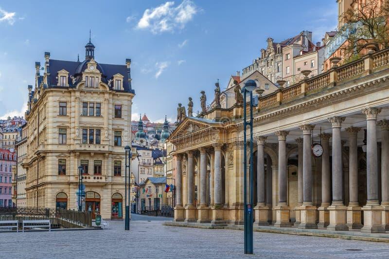 Colonnato del mulino, Karlovy Vary immagini stock libere da diritti