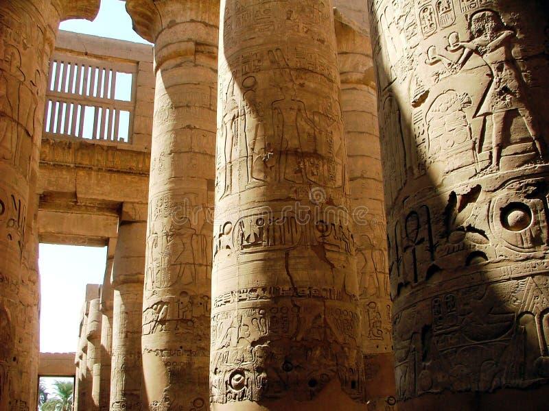 Colonnato del tempiale di Karnak immagini stock libere da diritti