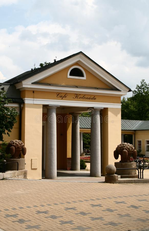 Colonnato in Františkovy Lázn? fotografie stock