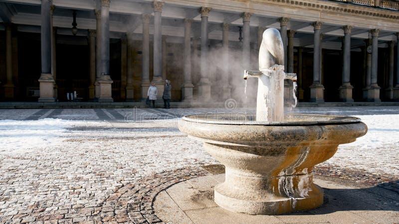Colonnato a Karlovy Vary fotografie stock libere da diritti