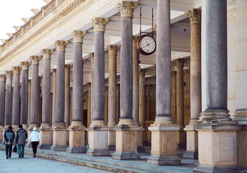 Colonnato a Karlovy Vary fotografia stock libera da diritti