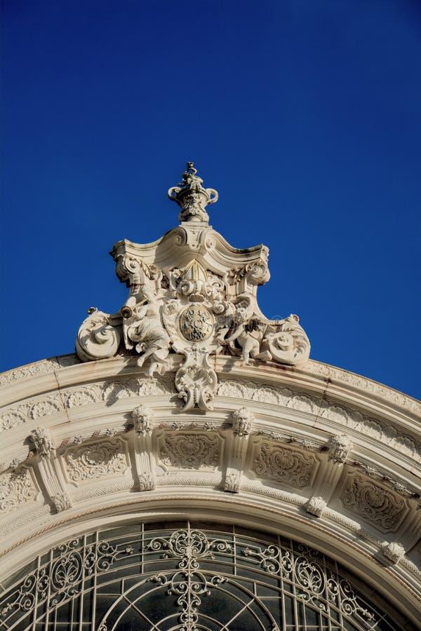 Colonnato principale della stazione termale - Marianske Lazne - la repubblica Ceca immagine stock libera da diritti