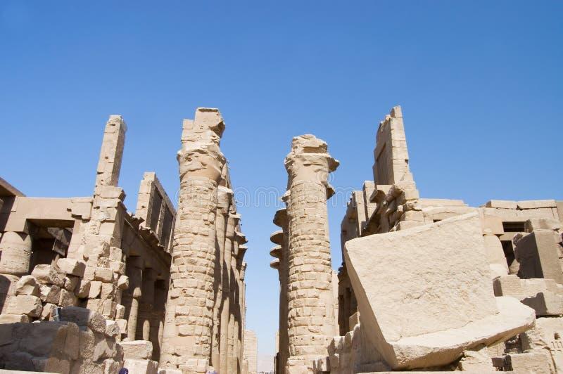 Colonne al tempiale di Karnak, Luxor, Egitto fotografie stock