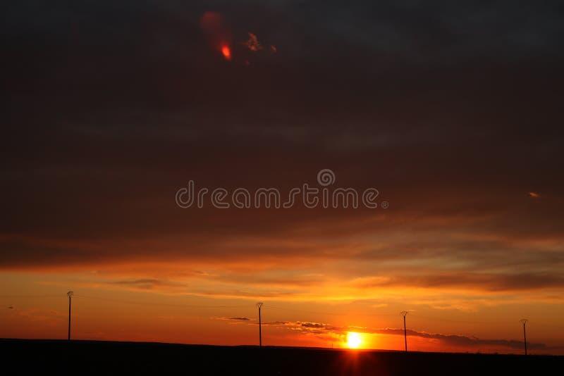 Colonne al tramonto fotografia stock libera da diritti