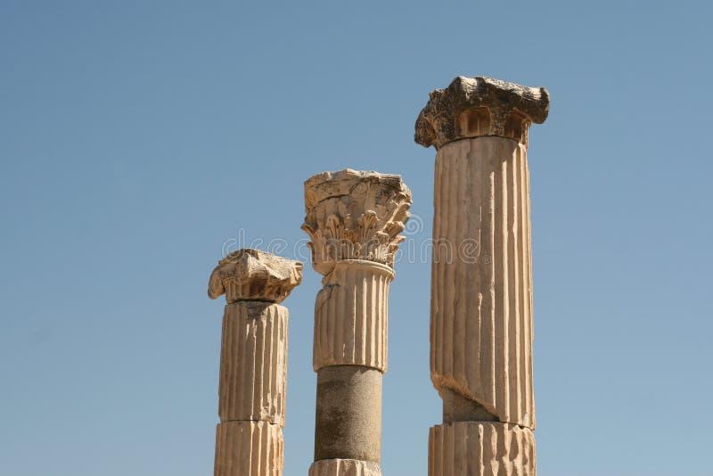 Colonne antiche a Ephesus fotografia stock