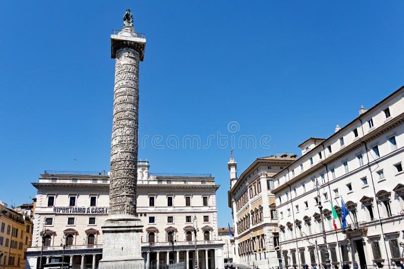 Colonne antique du ` s de Roman Trajan, Rome, Italie photo libre de droits