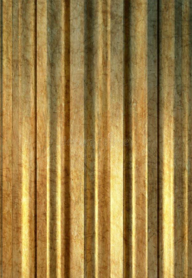 Colonne d'or illustration libre de droits