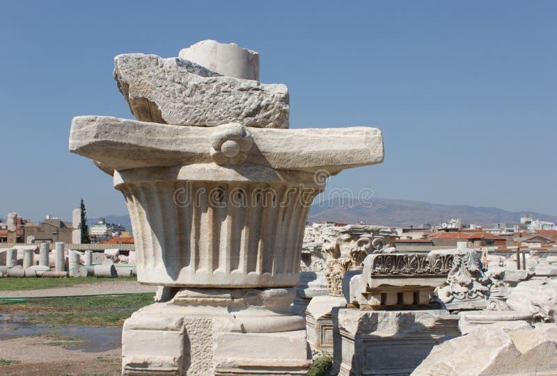 Colonne d'agora (capital initial) 1 photo libre de droits