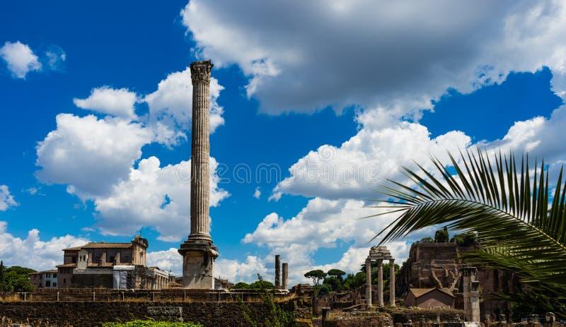 Colonne dans des ruines de Roma photos libres de droits