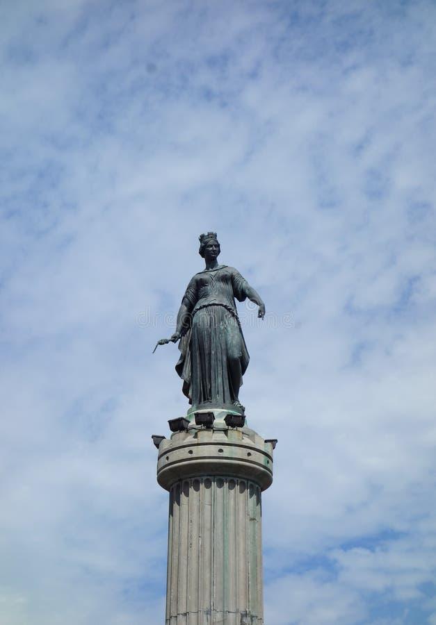 Colonne de la Deesse (coluna da deusa) em Lille foto de stock