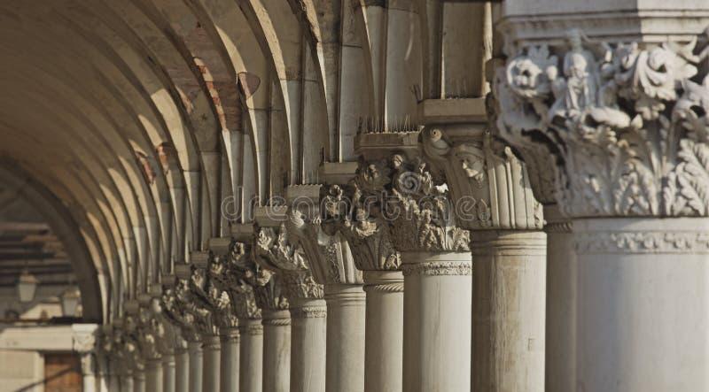 Colonne de Palais des Doges image libre de droits