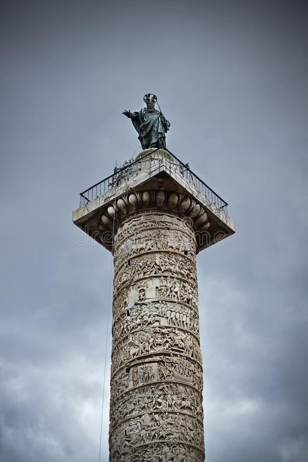Colonne de Trajan image stock