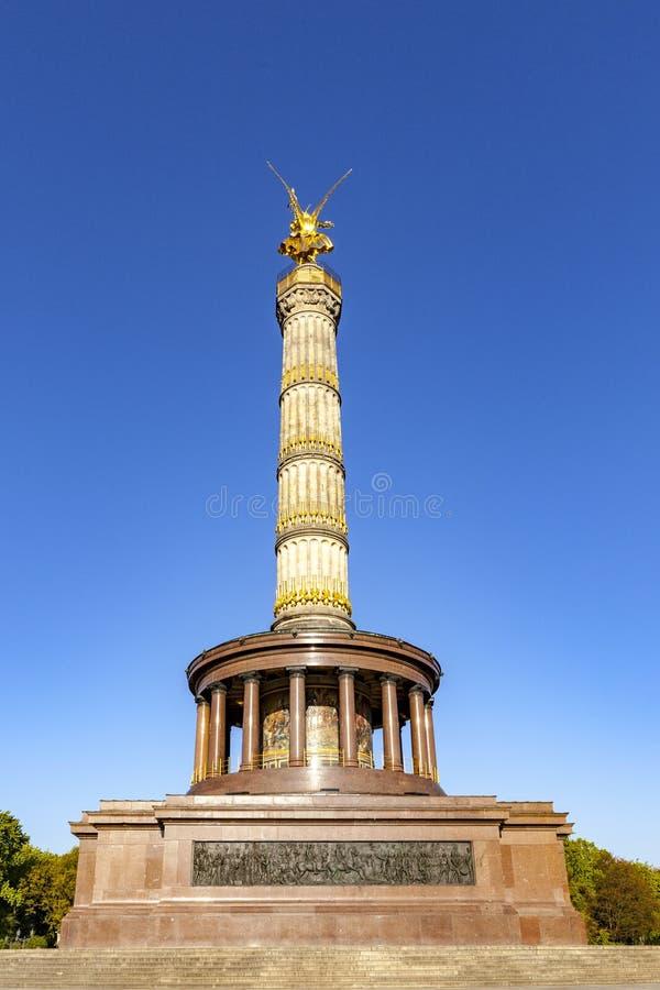 Colonne de victoire de Siegessaule en Berlin Germany photographie stock libre de droits
