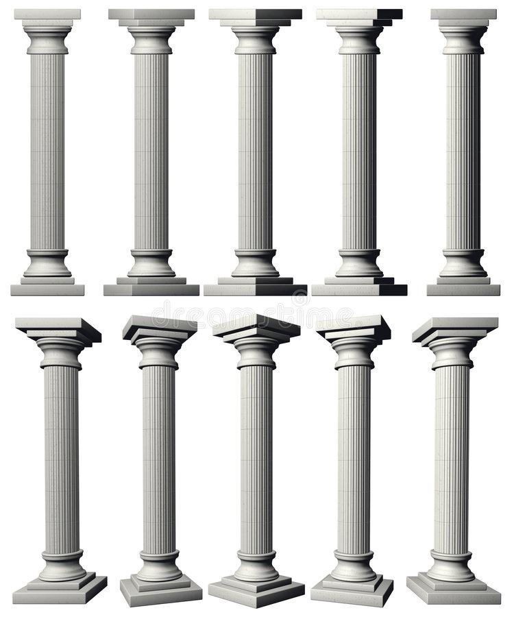 Colonne del Corinthian royalty illustrazione gratis