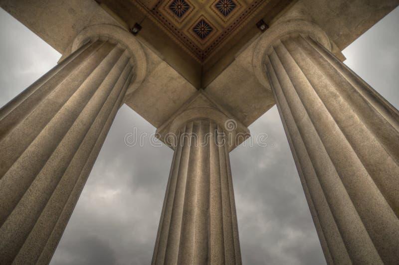 Colonne del Parthenon fotografie stock libere da diritti