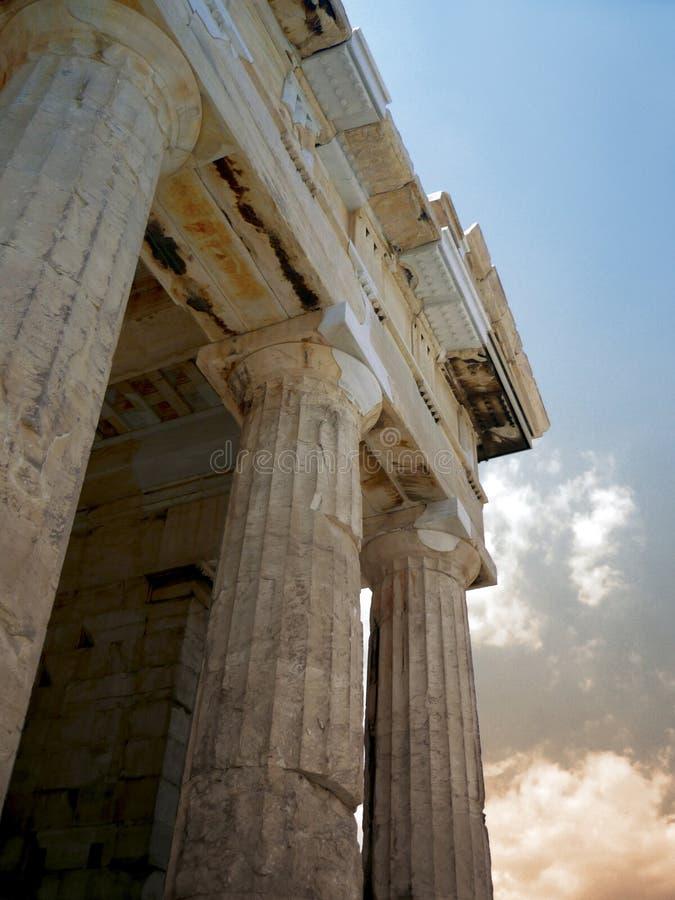 Colonne del Parthenon immagini stock libere da diritti