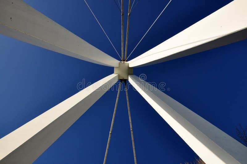 Colonne del ponte immagini stock libere da diritti