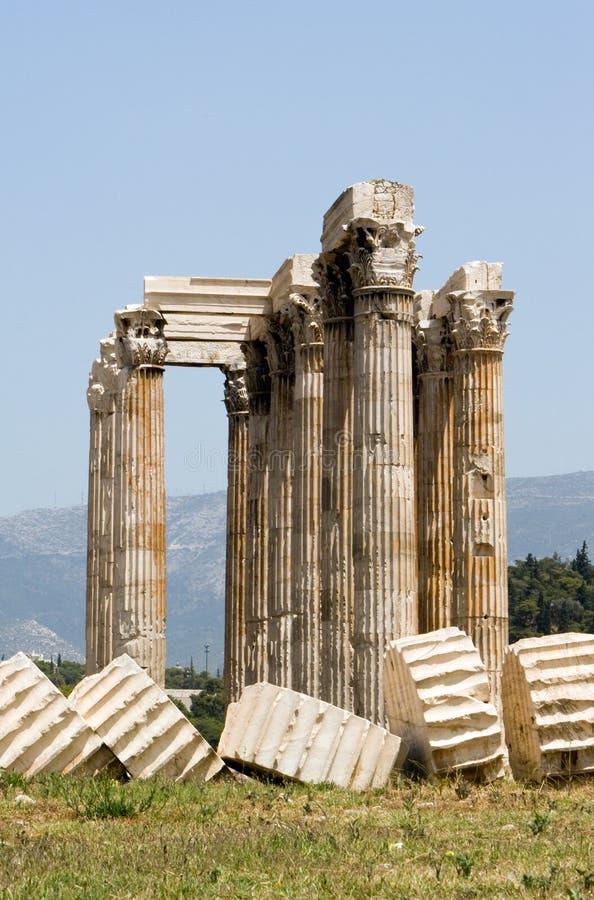 Colonne del tempiale dello Zeus immagine stock libera da diritti