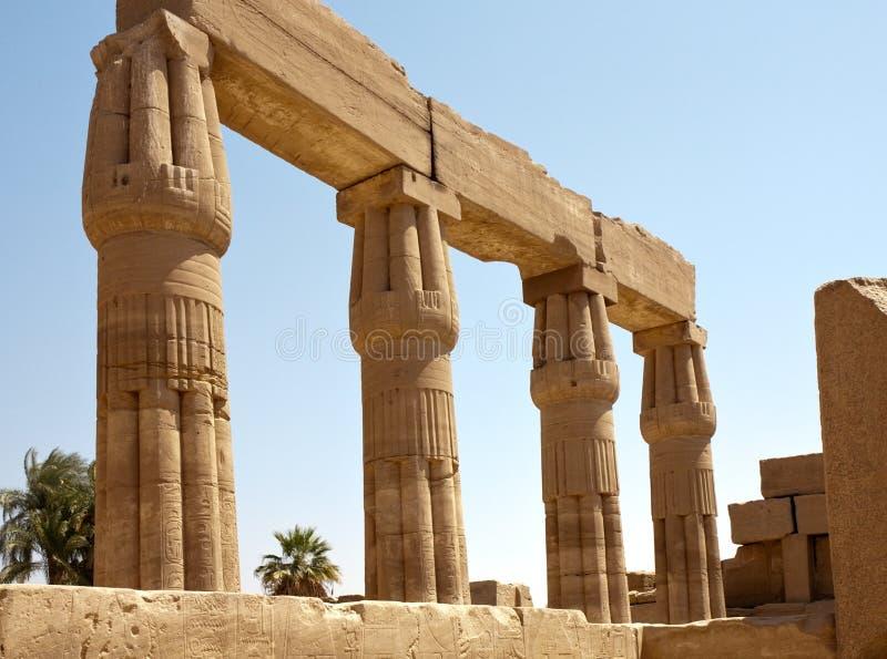 Colonne del tempiale di Karnak, Egitto, Luxor immagine stock