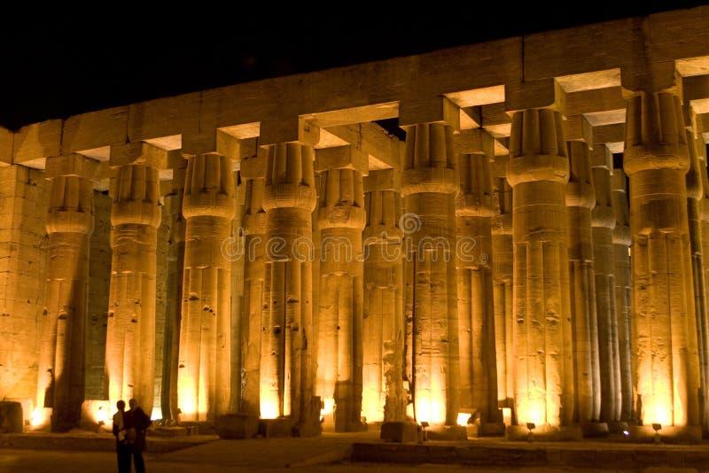 Colonne del tempiale di Luxor fotografie stock libere da diritti