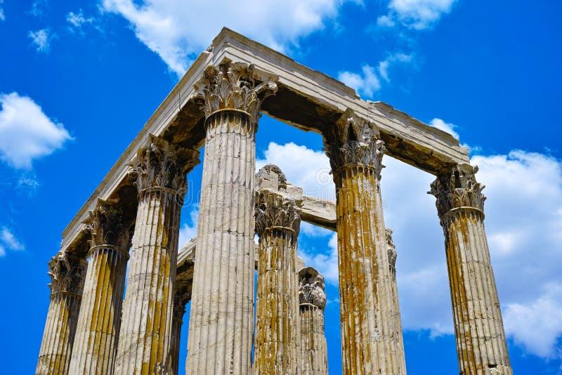 Colonne del tempio di Zeus, Olimpia, Grecia fotografia stock libera da diritti
