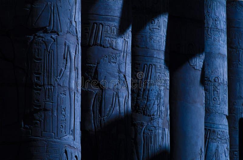 Colonne dell'Egitto Luxor fotografie stock